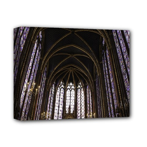 Sainte Chapelle Paris Stained Glass Deluxe Canvas 14  X 11  by Nexatart