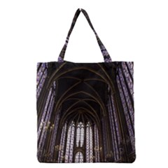 Sainte Chapelle Paris Stained Glass Grocery Tote Bag by Nexatart