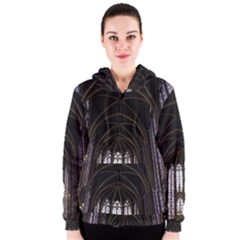 Sainte Chapelle Paris Stained Glass Women s Zipper Hoodie