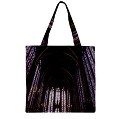 Sainte Chapelle Paris Stained Glass Zipper Grocery Tote Bag by Nexatart