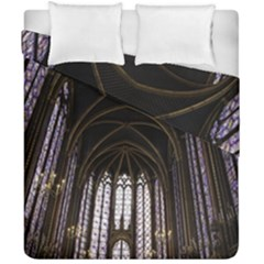 Sainte Chapelle Paris Stained Glass Duvet Cover Double Side (california King Size)