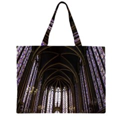Sainte Chapelle Paris Stained Glass Zipper Large Tote Bag by Nexatart
