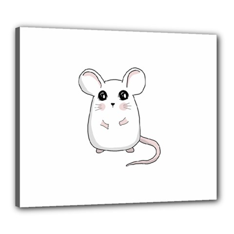 Cute Mouse Canvas 24  X 20  by Valentinaart