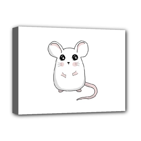 Cute Mouse Deluxe Canvas 16  X 12   by Valentinaart