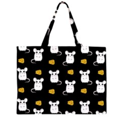 Cute Mouse Pattern Zipper Large Tote Bag by Valentinaart