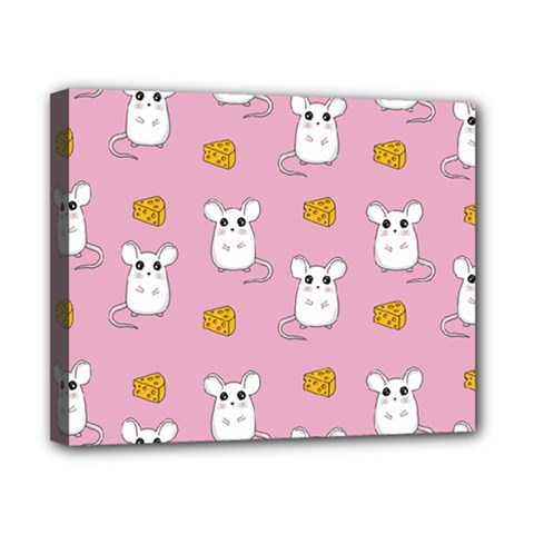 Cute Mouse Pattern Canvas 10  X 8  by Valentinaart