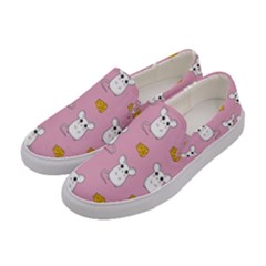Cute Mouse Pattern Women s Canvas Slip Ons by Valentinaart