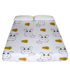 Cute Mouse Pattern Fitted Sheet (california King Size) by Valentinaart
