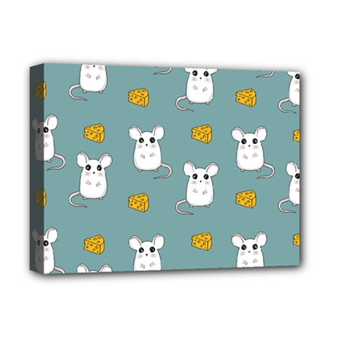 Cute Mouse Pattern Deluxe Canvas 16  X 12   by Valentinaart
