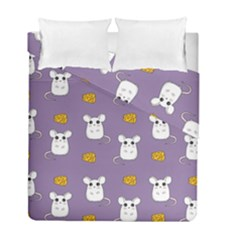 Cute Mouse Pattern Duvet Cover Double Side (full/ Double Size) by Valentinaart