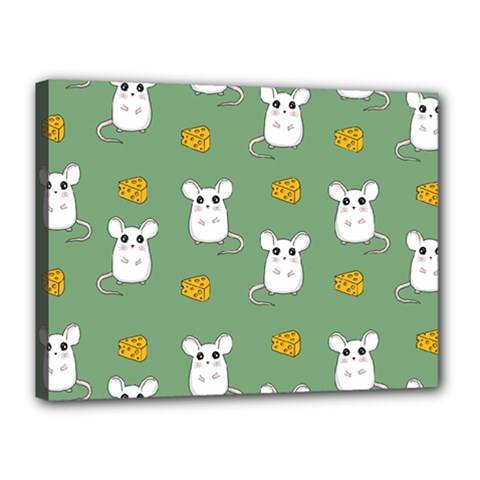 Cute Mouse Pattern Canvas 16  X 12  by Valentinaart