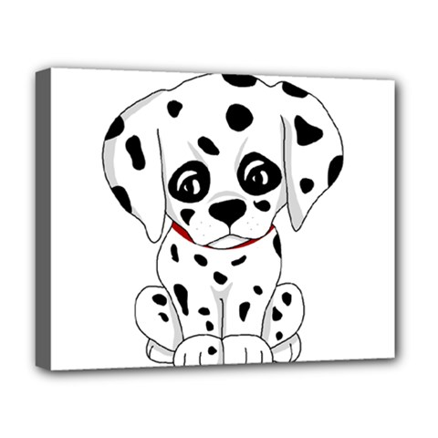 Cute Dalmatian Puppy  Deluxe Canvas 20  X 16   by Valentinaart