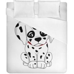 Cute Dalmatian Puppy  Duvet Cover (california King Size) by Valentinaart