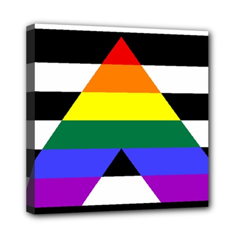 Straight Ally Flag Mini Canvas 8  X 8  by Valentinaart
