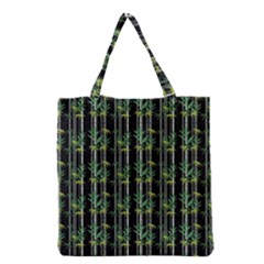 Bamboo Pattern Grocery Tote Bag by ValentinaDesign