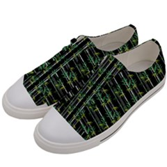 Bamboo Pattern Men s Low Top Canvas Sneakers by ValentinaDesign