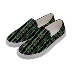 Bamboo Pattern Women s Canvas Slip Ons by ValentinaDesign