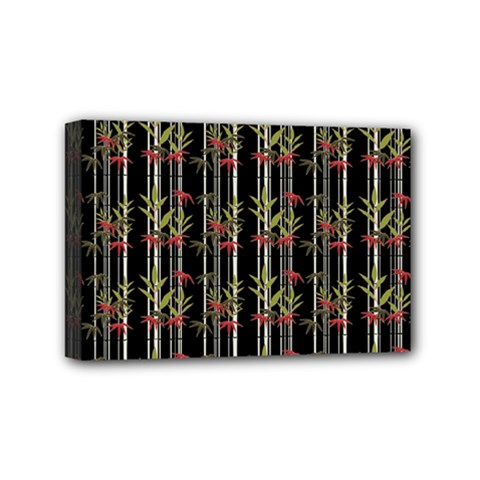 Bamboo Pattern Mini Canvas 6  X 4  by ValentinaDesign