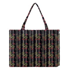 Bamboo Pattern Medium Tote Bag by ValentinaDesign
