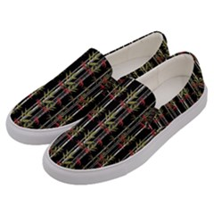 Bamboo Pattern Men s Canvas Slip Ons by ValentinaDesign