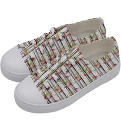 Bamboo Pattern Kids  Low Top Canvas Sneakers by ValentinaDesign