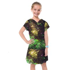 Space Colors Kids  Drop Waist Dress