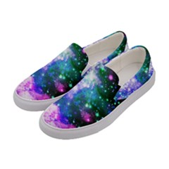 Space Colors Women s Canvas Slip Ons by ValentinaDesign