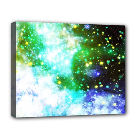 Space Colors Deluxe Canvas 20  X 16   by ValentinaDesign