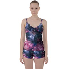 Space Colors Tie Front Two Piece Tankini