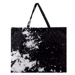 Space Colors Zipper Large Tote Bag by ValentinaDesign
