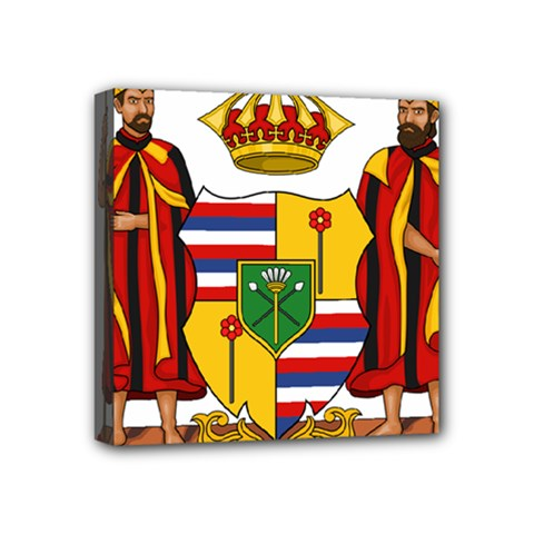 Kingdom Of Hawaii Coat Of Arms, 1795 1850 Mini Canvas 4  X 4  by abbeyz71