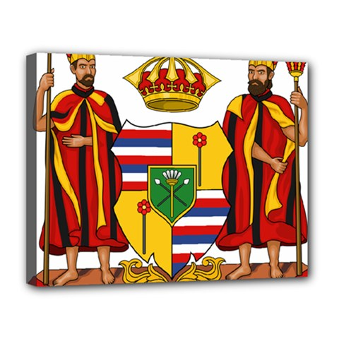 Kingdom Of Hawaii Coat Of Arms, 1795 1850 Canvas 14  X 11  by abbeyz71