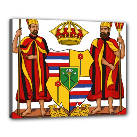 Kingdom Of Hawaii Coat Of Arms, 1795 1850 Canvas 20  X 16  by abbeyz71