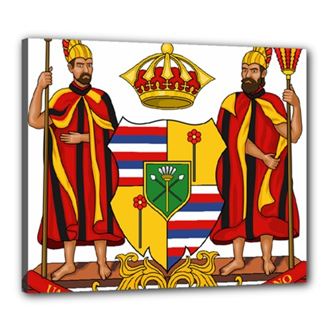 Kingdom Of Hawaii Coat Of Arms, 1795 1850 Canvas 24  X 20  by abbeyz71