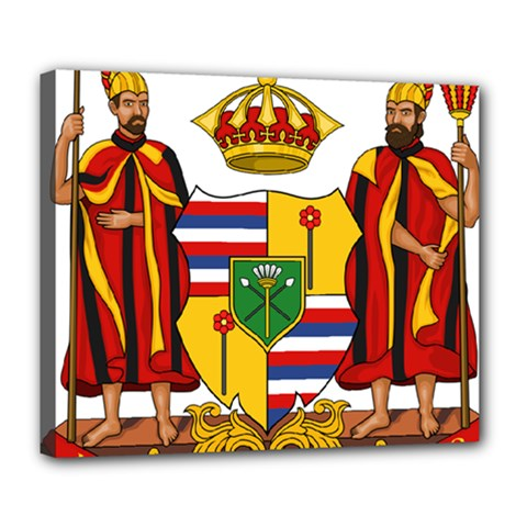 Kingdom Of Hawaii Coat Of Arms, 1795 1850 Deluxe Canvas 24  X 20   by abbeyz71