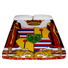 Kingdom Of Hawaii Coat Of Arms, 1795 1850 Fitted Sheet (california King Size) by abbeyz71