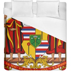 Kingdom Of Hawaii Coat Of Arms, 1795 1850 Duvet Cover (king Size) by abbeyz71