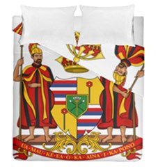 Kingdom Of Hawaii Coat Of Arms, 1795 1850 Duvet Cover Double Side (queen Size) by abbeyz71