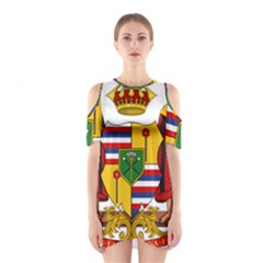 Kingdom Of Hawaii Coat Of Arms, 1795 1850 Shoulder Cutout One Piece by abbeyz71