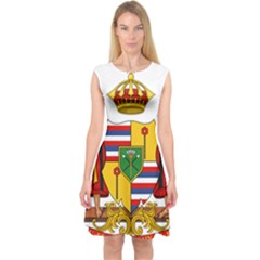 Kingdom Of Hawaii Coat Of Arms, 1795 1850 Capsleeve Midi Dress by abbeyz71