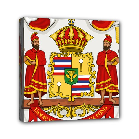 Kingdom Of Hawaii Coat Of Arms, 1850 1893 Mini Canvas 6  X 6  by abbeyz71