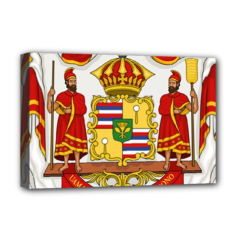 Kingdom Of Hawaii Coat Of Arms, 1850 1893 Deluxe Canvas 18  X 12   by abbeyz71