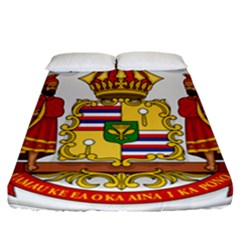 Kingdom Of Hawaii Coat Of Arms, 1850 1893 Fitted Sheet (california King Size) by abbeyz71