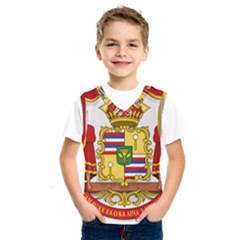 Kingdom Of Hawaii Coat Of Arms, 1850 1893 Kids  Sportswear by abbeyz71