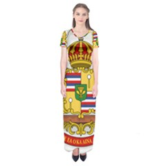 Kingdom Of Hawaii Coat Of Arms, 1850 1893 Short Sleeve Maxi Dress by abbeyz71
