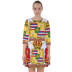 Kingdom Of Hawaii Coat Of Arms, 1850 1893 Smock Dress by abbeyz71
