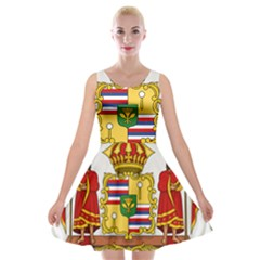 Kingdom Of Hawaii Coat Of Arms, 1850 1893 Velvet Skater Dress by abbeyz71
