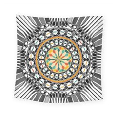 High Contrast Mandala Square Tapestry (small) by linceazul