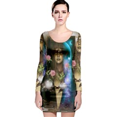The Wonderful Women Of Earth Long Sleeve Bodycon Dress by FantasyWorld7