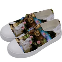 The Wonderful Women Of Earth Kids  Low Top Canvas Sneakers by FantasyWorld7